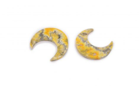 Bumble bee Jasper Crescent Moon- Crystal Dreams