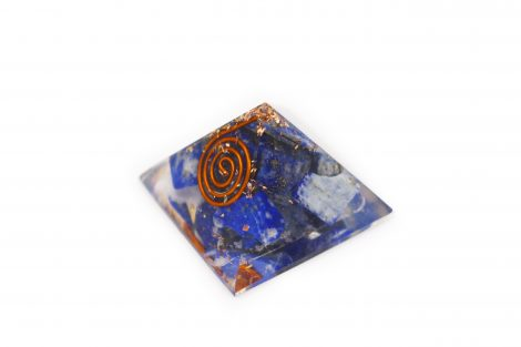 Small Lapis Lazuli Orgonite Pyramid - Crystal Dreams