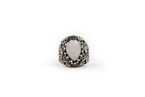 Moonstone Tear Sterling Silver Ring - Crystal Dreams