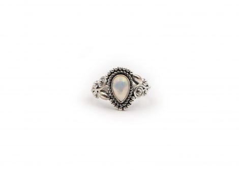 Opal Drop Sterling Silver Ring - Crystal Dreams