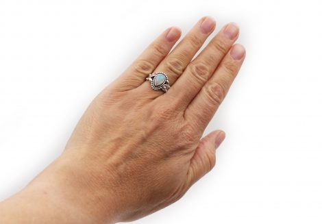 Opal Drop Sterling Silver Ring - Crystal Dreams