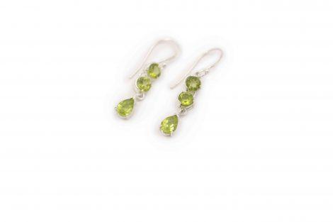 """Peridot """"Triple"""" Sterling Silver Earrings - Crystal Dreams"""