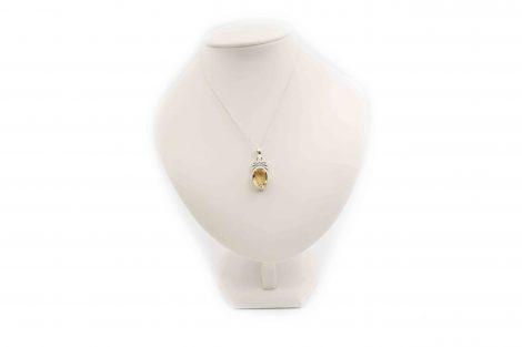 Citrine ''Pineapple'' Pendant Sterling Silver- Crystal Dreams