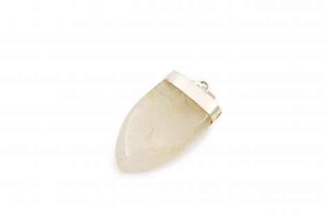 Rutilated Quartz ''V'' Pendant Sterling Silver- Crystal Dreams