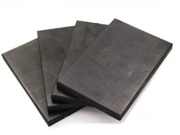 Shungite rectangular polished tile - Crystal Dreams