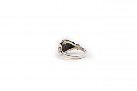 Amethyst Faceted Ring In Sterling Silver - Crystal Dreams