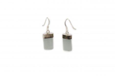 """Aquamarine Sterling Silver """"Flat"""" Earrings - Crystal Dreams"""