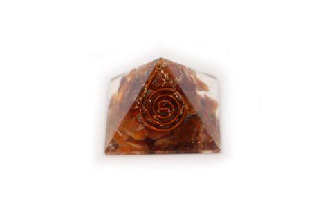 Orgone Pyramid – Carnelian (S) - Crystal Dreams