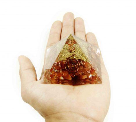 Orgone Pyramid – Carnelian (M) - Crystal Dreams
