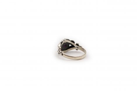 Amethyst Circle Sterling Silver Ring - Crystal Dreams