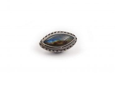 Labradorite shield sterling silver ring - Crystal Dreams