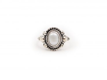 Natural Pearl Cabochon Sterling Silver Ring - Crystal Dreams