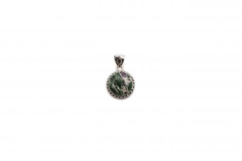 """Ruby Zoisite """"Cabochon"""" Pendant Sterling Silver - Crystal Dreams"""