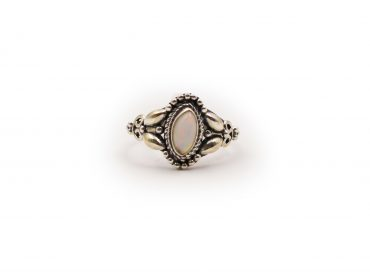 Opal Marquise Ring In Sterling Silver - Crystal Dreams