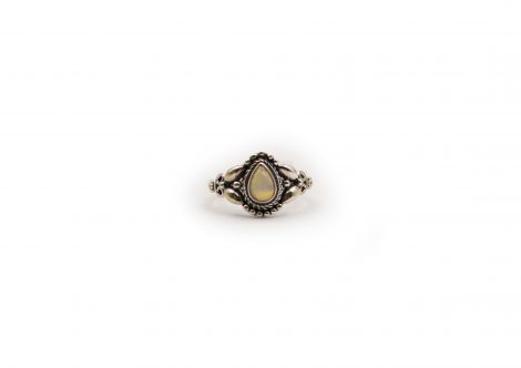 Opal Pear Sterling Silver Ring - Crystal Dreams