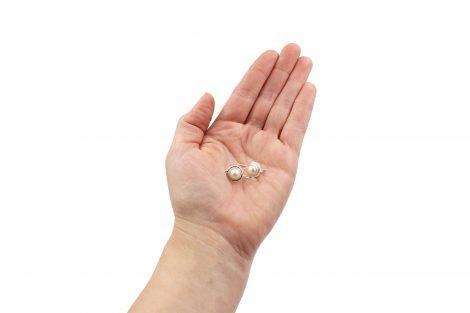 Pearl Sterling Silver Earrings - Crystal Dreams