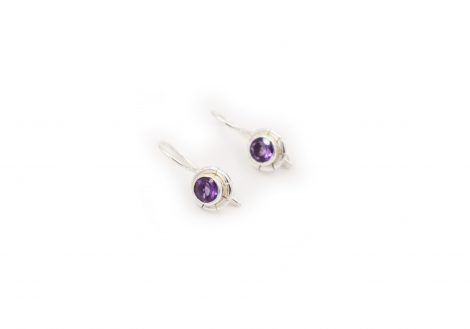 Petit Amethyst Sterling Silver Earrings - Crystal Dreams