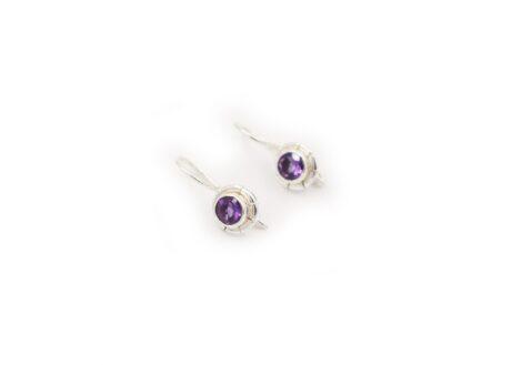 Petit Amethyst Sterling Silver Earrings - Crystal Dreams