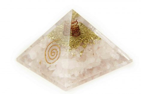 Pink Rose Quartz orgone pyramide - Orgonite (M) 30-40mm - Crystal Dreams