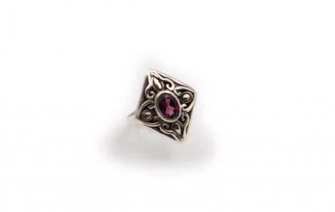 Pink Tourmaline Ring In Sterling Silver - Crystal Dreams