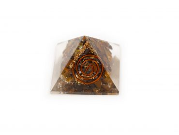 Orgonite Pyramid – Tiger Eye(S) -Crystal Dreams