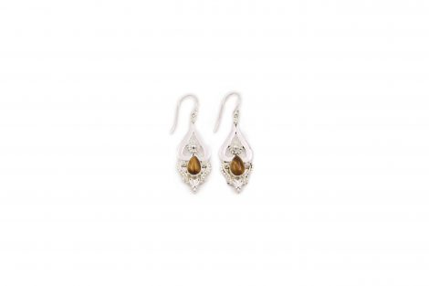 Tiger's Eye Sterling Silver Earrings -Crystal Dreams
