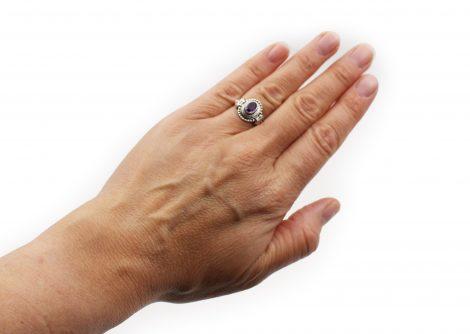 Amethyst Elliptic Sterling Silver Ring