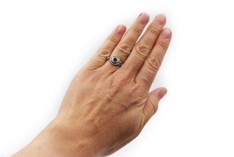Amethyst Small Dot Sterling Silver Ring - Crystal Dreams