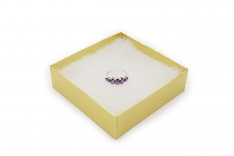 Amethyst squares Sterling Silver