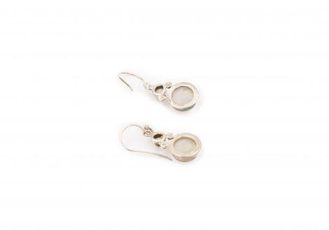 Double Rose Quartz Sterling Silver Earrings