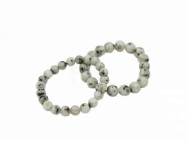 Kiwi Jasper Bracelet (8 mm or 10 mm) - Crystal Dreams