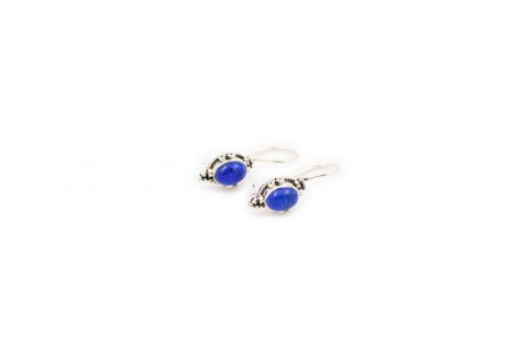 Petit Lapis Lazuli Sterling Silver Earrings - Crystal Dreams