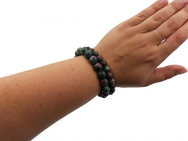 Ruby Zoisite Bracelet - Crystal Dreams
