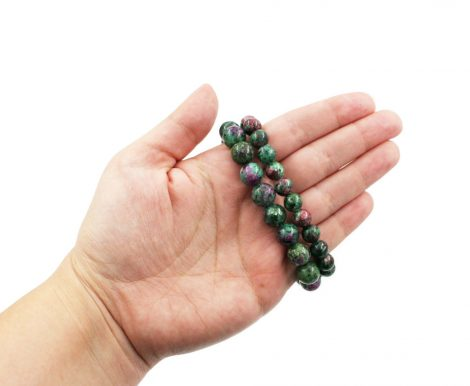 Ruby Zoisite Bracelet (8 mm or 10 mm) - Crystal Dreams