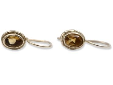 Citrine Single Earrings Sterling Silver - Crystal Dreams