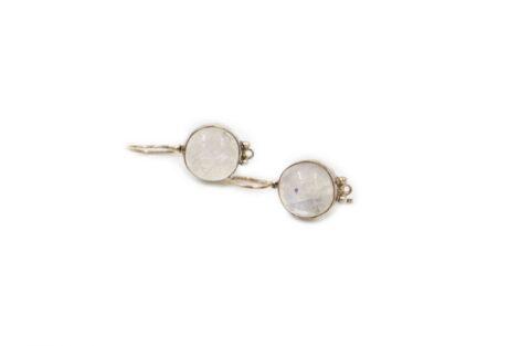 """Moonstone """"Single"""" Sterling Silver Earrings - Crystal Dreams"""
