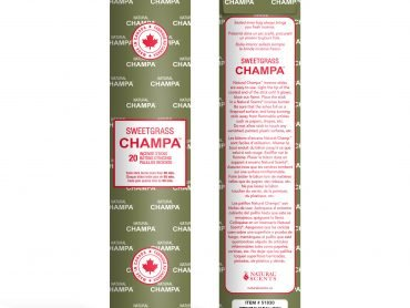 Sweetgrass Champa Incense- Crystal Dreams