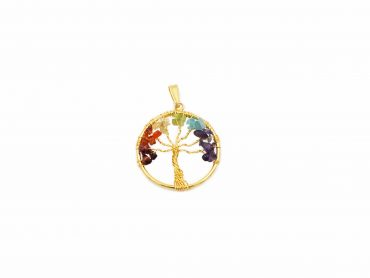 Golden Chakra Tree of Life Pendant - Crystal Dreams