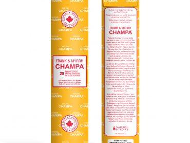 Frank & Myrrh Champa Incense - Crystal Dreams