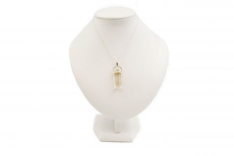 """Rutilated Quartz """"Double Point"""" Pendant Sterling Silver - Crystal Dreams"""