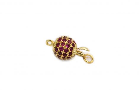 Charm - Round clasp Gold - Crystal Dreams