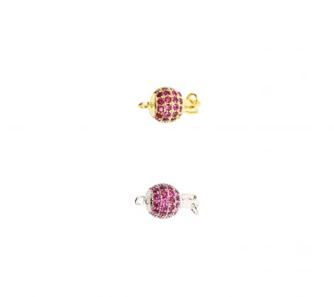 Charm - Round clasp silver_gold - Crystal Dreams