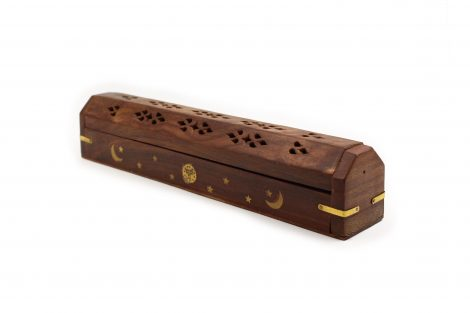 Wood Incense Chest Holder - Crystal Dreams