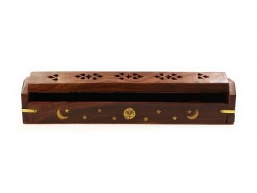 Small Moons & Stars Wood Incense Chest Holder