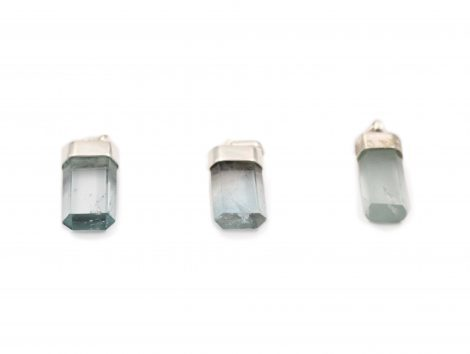 Blue Topaz Polished Pendant Sterling Silver - Crystal Dreams