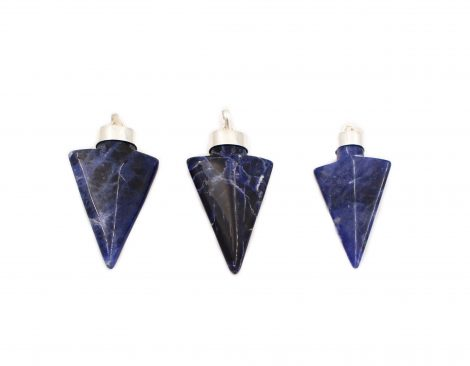 Sodalite Arrowhead Pendant Sterling Silver - Crystal Dreams