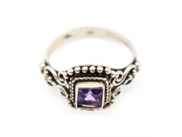 "Amethyst ""Square"" Sterling Silver Ring - Crystal Dreams"