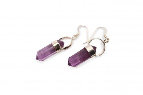 """Fluorite """"Point"""" Sterling Silver Earrings - Crystal Dreams"""