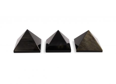 Golden Obsidian Pyramid - Crystal Dreams