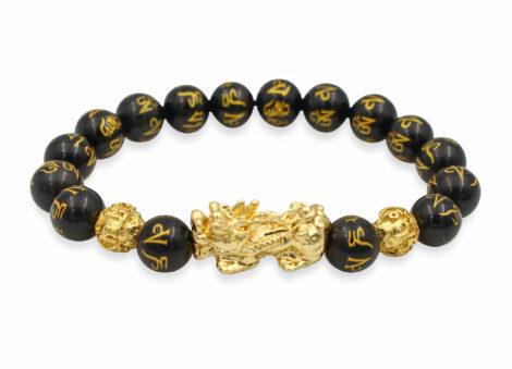 Obsidian Feng Shui 10 mm Bracelet - Crystal Dreams